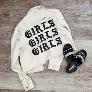 Forever21 GIRLS GIRLS GIRLS Denim Jacket